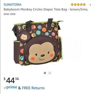 Other - UNATORIA Babyboom Monkey Circles Diaper Bag